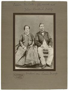 Dubbelportret van Johan Hendrik Droop (1835-1896) en Frederika Louisa ten Cate (1833-1893)