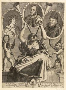 Portretten van Philip I, Charles V en Philip II