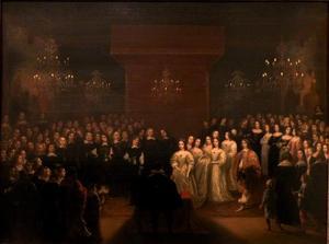 Het huwelijk van Frederik Willem keurvorst van Brandenburg met Louise Henriette van Oranje in 1646