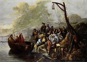 Christus predikend vanuit de boot