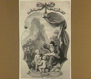 Allegorische voorstelling in cartouche