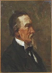Portret van een onbekende man, mogelijk de schilder P.J.C. Gabriël
