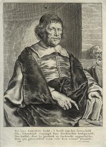 Portret van Caspar van Baerle (Caspar Barlaeus) (1584-1648)