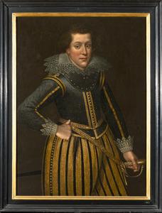 Portret van een man, waarschijnlijk Albrecht van Beyeren van Schagen (1577-1638)