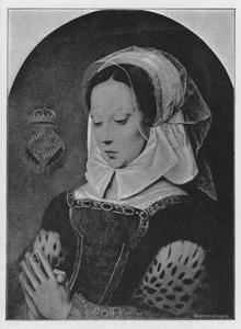 Jonge biddende vrouw