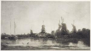 Molens aan de Maas bij Dordrecht