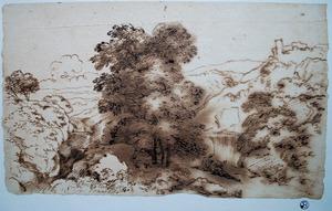 Landschap in de omgeving van Tivoli