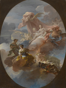 Allegorie van de overwinning van Waarheid, Hoop en Voorzichtigheid over Oorlog