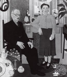 Dubbelportret van Petrus Louis Bitter (1880-1972) en Margaretha Zandvliet (1888-1974)