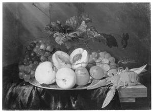 Vruchtenstilleven met een kreeftje