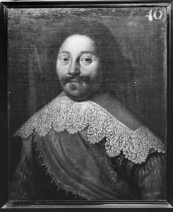 Portret van Cornelis Sijms, kapitein in het Noord-Hollands regiment