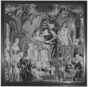 Bertrada van Laon ontvangt Desiderius' dochter als vrouw voor haar zoon, Karel de Grote