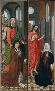 De heilige Paulus met Paolo Pagagnotti; De verschijning van Christus aan Maria