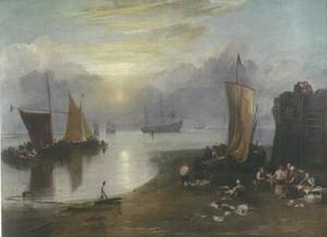 Opkomende zon in de mist