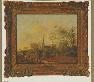 Gezicht op het dorp Voorhout