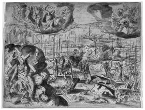 De zeeslag bij Lepanto
