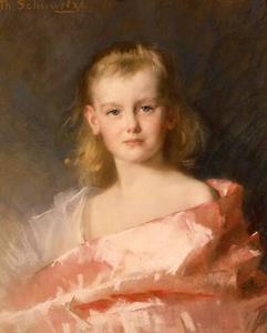 Portret van koningin Wilhelmina als kroonprinses (1880-1962)