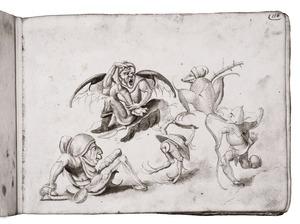 Figuren voor een Verzoeking van de H. Antonius (fragment)