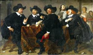 Vier overlieden van de Kloveniersdoelen te Amsterdam, 1655