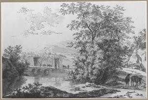 Tivoli, de Ponte Lucano over de Aniene en het graf der Plautii