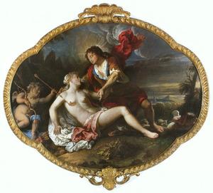 Apollo, vermomd als herder, verleidt Issa (Ovidius, Metamorphosen, VI,vers 124)