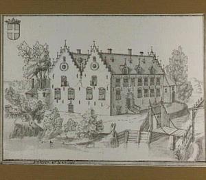 Het huis Sinderen tussen het dorp Voorst en de IJssel