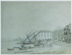 Vissersschepen op het strand van Castellamare di Stabia
