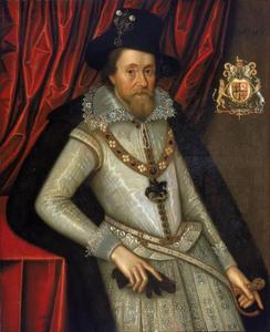 Portret van koning Jacobus I van Engeland (1566-1625)