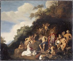 De wedstrijd van Apollo en Pan en het  oordeel van Midas