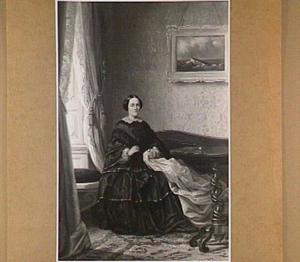 Portret van een vrouw bezig met handwerk in een interieur