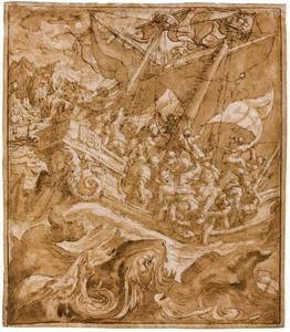 De profeet Jona wordt in zee gegooid (Jona 1:12-15)