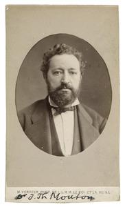 Portret van Johannes Theodorus Mouton (1840-1912)