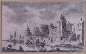 Dordrecht met rondeel Engelenburg en Papenbolwerk