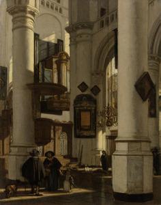 Interieur van een protestantse gotische kerk