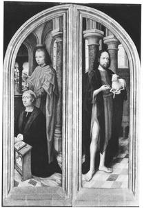 De H. Johannes de Evangelist met stichter (links), de H. Johannes de Doper