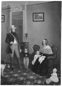 Portret van de familie van Theodore Jacques Ferdinand Ghislain Dommer (1808-1877) enAmelie van Bevere (1817-1867)
