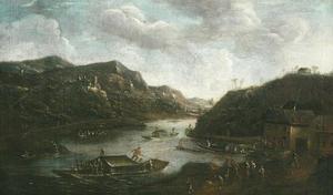 Rivierlandschap met de rivier de Moezel