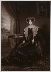 Portret van koningin Wilhelmina , prinses van Pruisen (1774-1837)