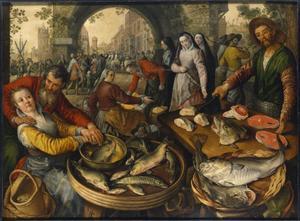 Vismarkt met Ecce Homo