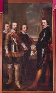 Groepsportret van de graven Albert van Nassau-Dillenburg, Johan Ernst II van Nassau-Siegen, Adolf van Nassau-Siegen en Jan III van Nassau-Siegen