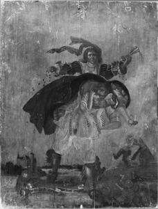Allegorie: 'het sijn stercke beenen die weelde konne(n) dragen'