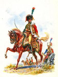 Officier van de Bereden Jagers, Keizerlijke Garde