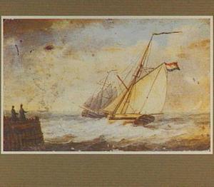 Twee schepen bij een aanlegsteiger