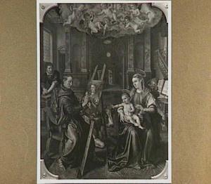 De H. Lucas schildert de Madonna (Altaar van het Sint-Lucasgilde)