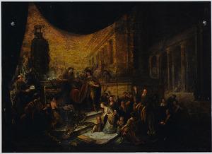 De Man Gods uit Juda profeteert tegen Jerobeams altaar te Bethel. Wanneer de koning naar hem wijst, verstijft zijn hand en valt het altaar in stukken  (1 Koningen 13:5-6)