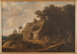 Landschap met huis
