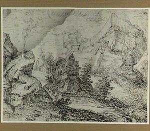 Berglandschap met bebouwing