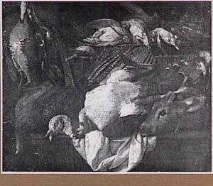 Stilleven van gevogelte en ree