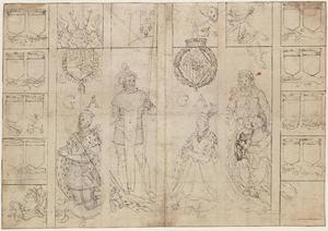 Prins Willem I en Anna van Saksen met hun naamheiligen