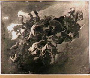 De val van de verdoemden in de hel